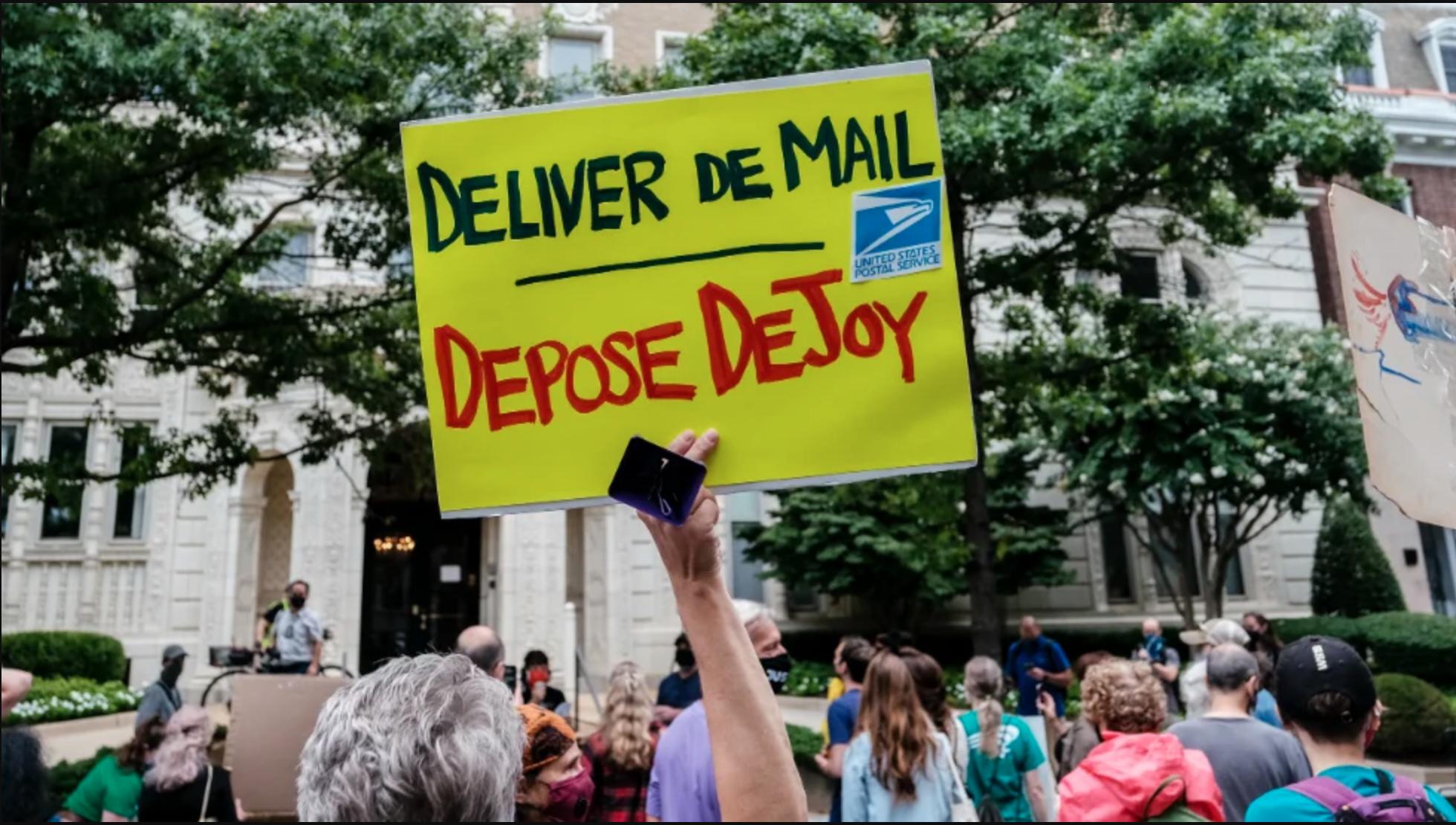 DeJoy protesters