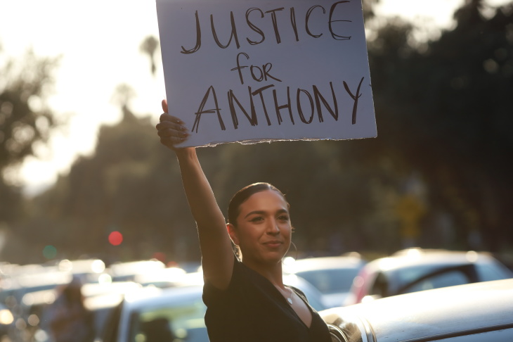 Anthony McClain protest