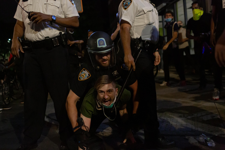 White man arrested