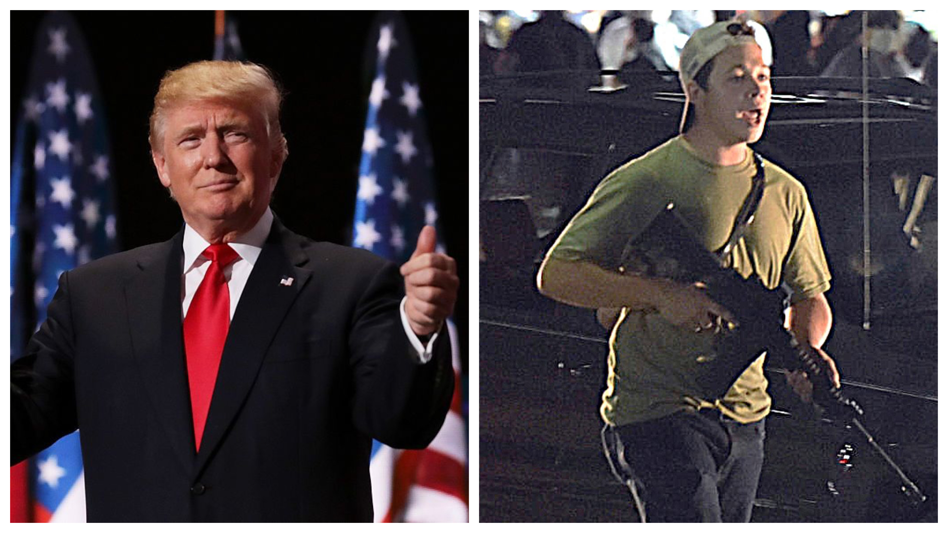 Donald Trump and Kyle Rittenhouse