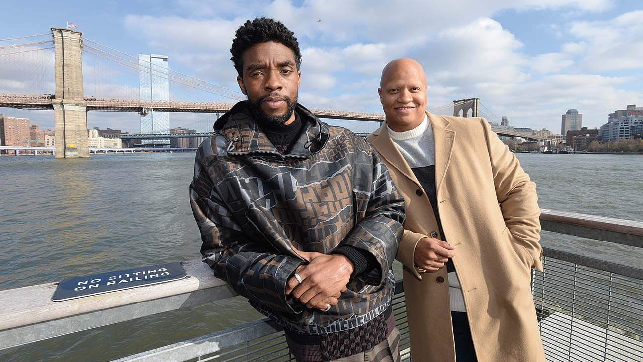 Chadwick Boseman and Logan Coles