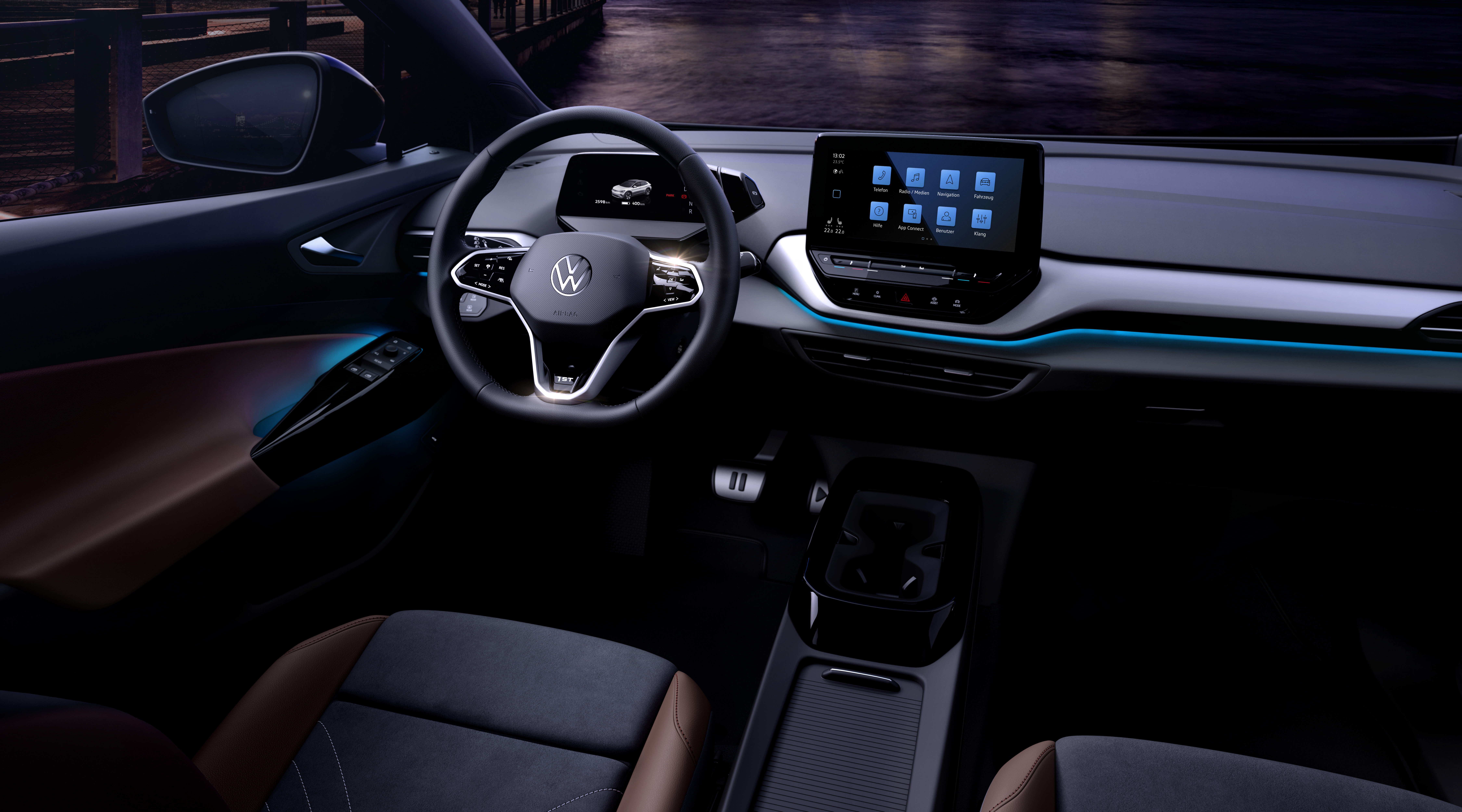 Volkswagen Shows Off Minimalist Interior Of Its Forthcoming Id 4 Electric Suv The Verge