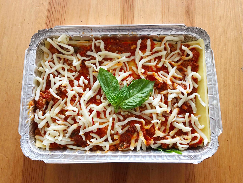 Family-style lasagna from Crema Bakery