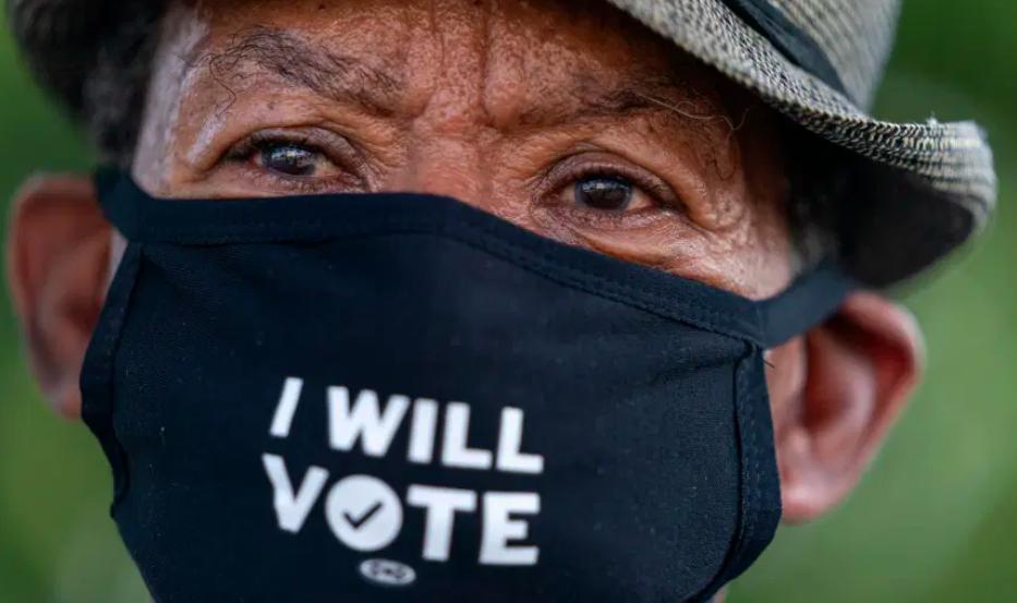 Masked voter