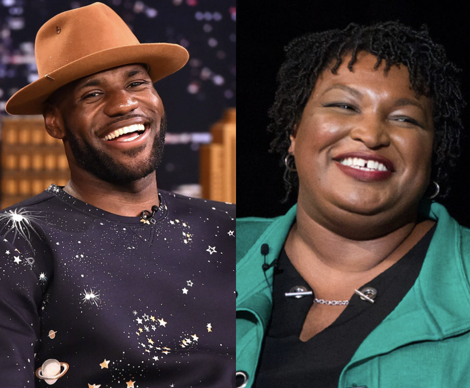 Stacey Abrams, LeBron James
