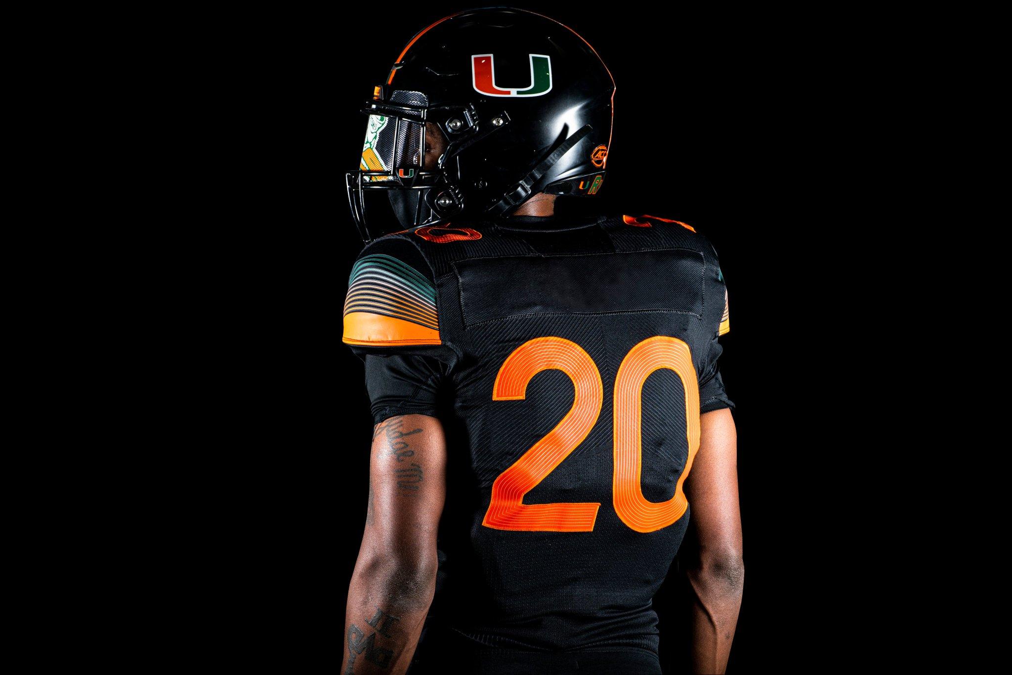 "Miami Hurricanes unveil 2nd ""Miami Nights"" All-Black alternate ..."