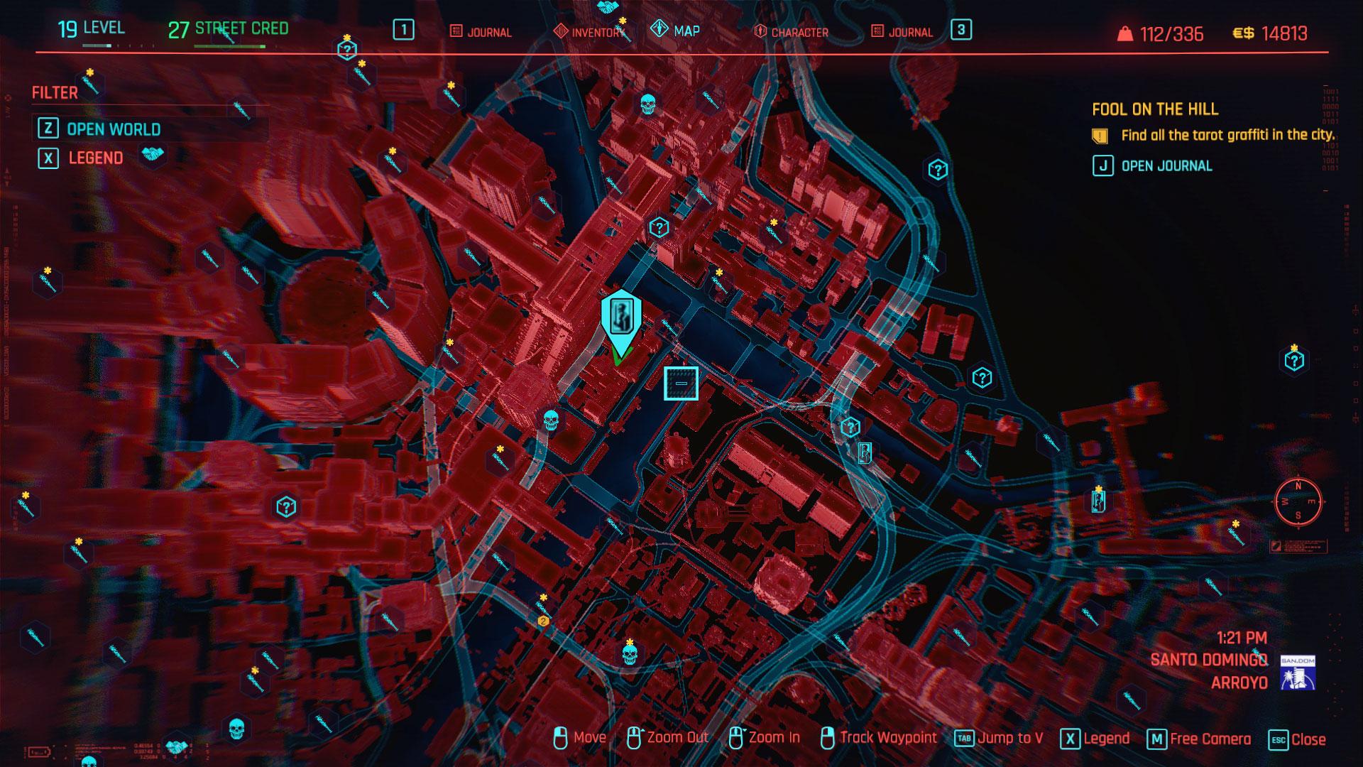 Cyberpunk 2077 tarot card locations Fool on the Hill guide ...