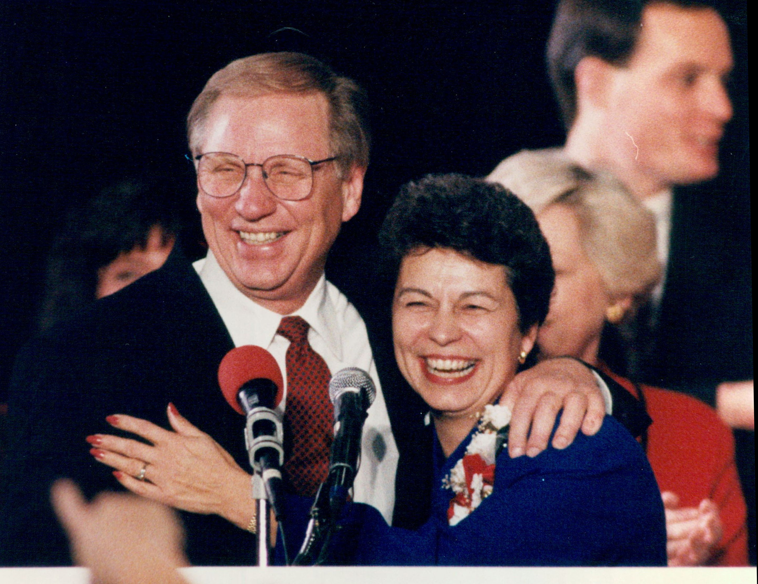 Nov. 9, 1994: Arne Carlson celebrated with Lt. Gov. Joanne Benson as his reelection was confirmed.