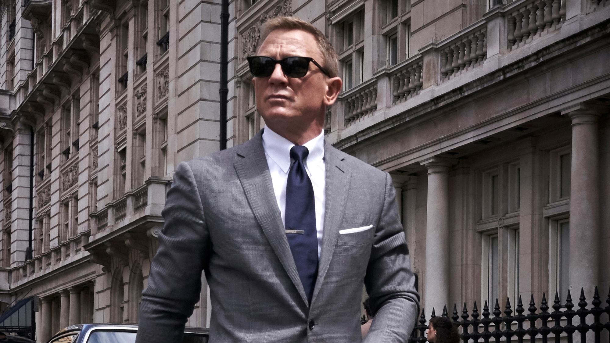 Daniel Craig in the upcoming Bond movie.