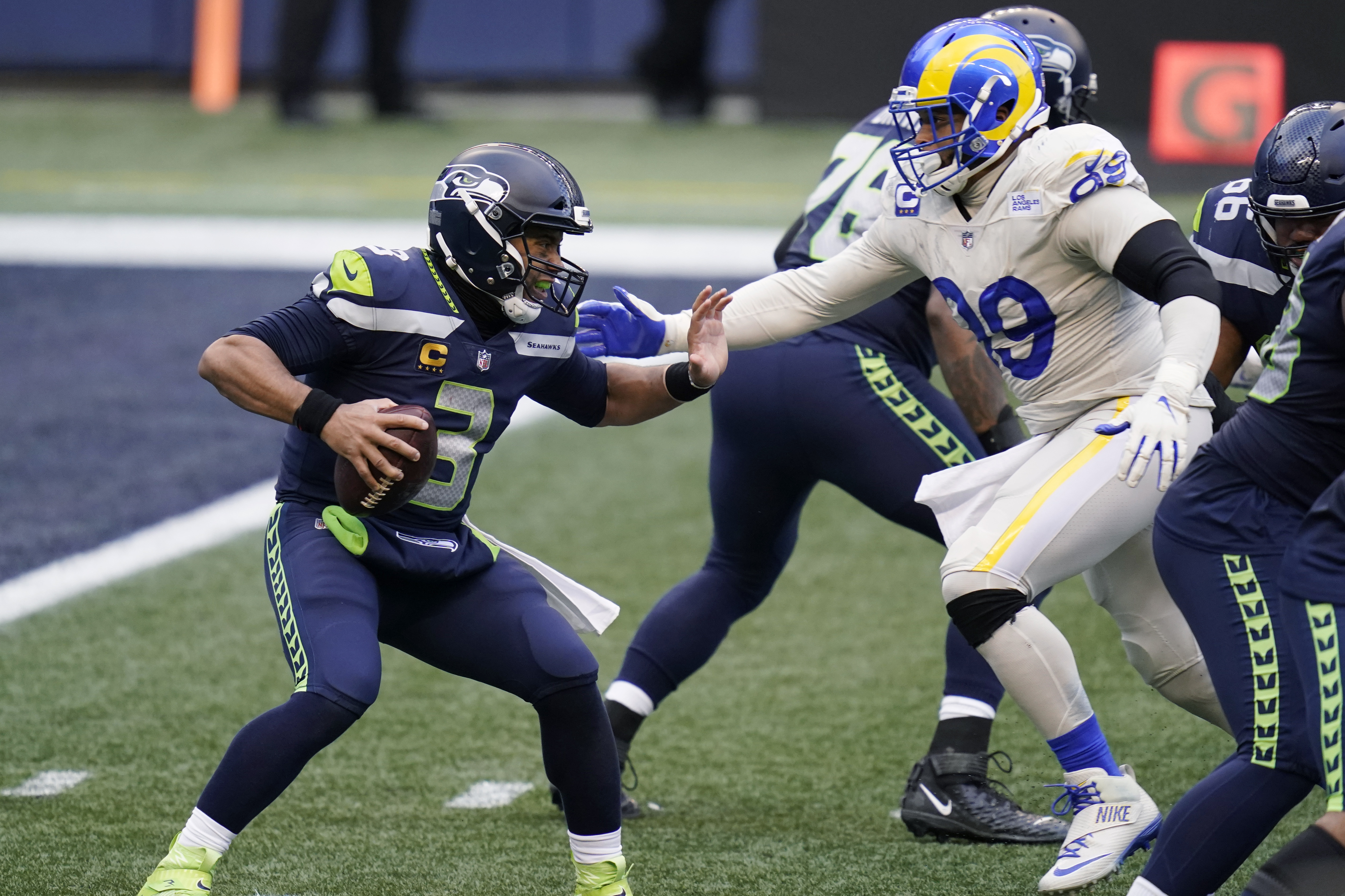 Russell Wilson and Aaron Donald.