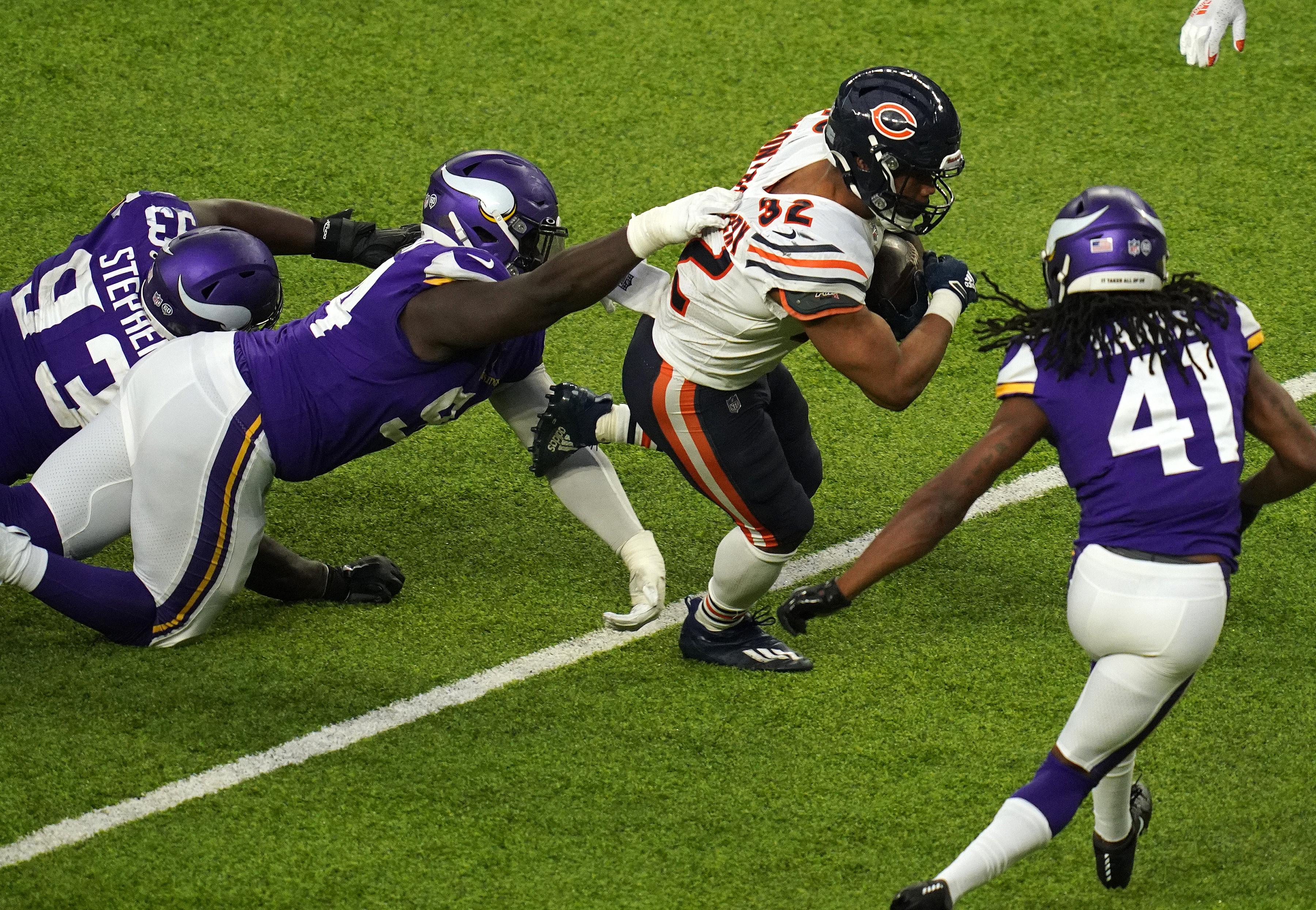 Bears running back David Montgomery