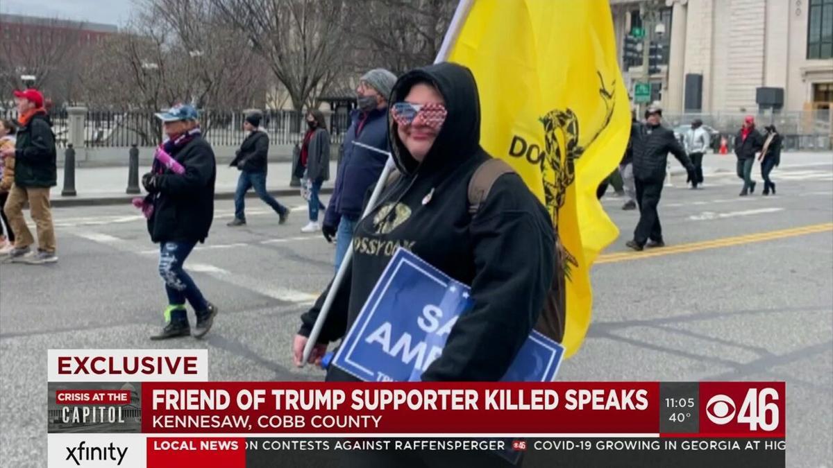 pro-Trump rioter at U.S. Capitol