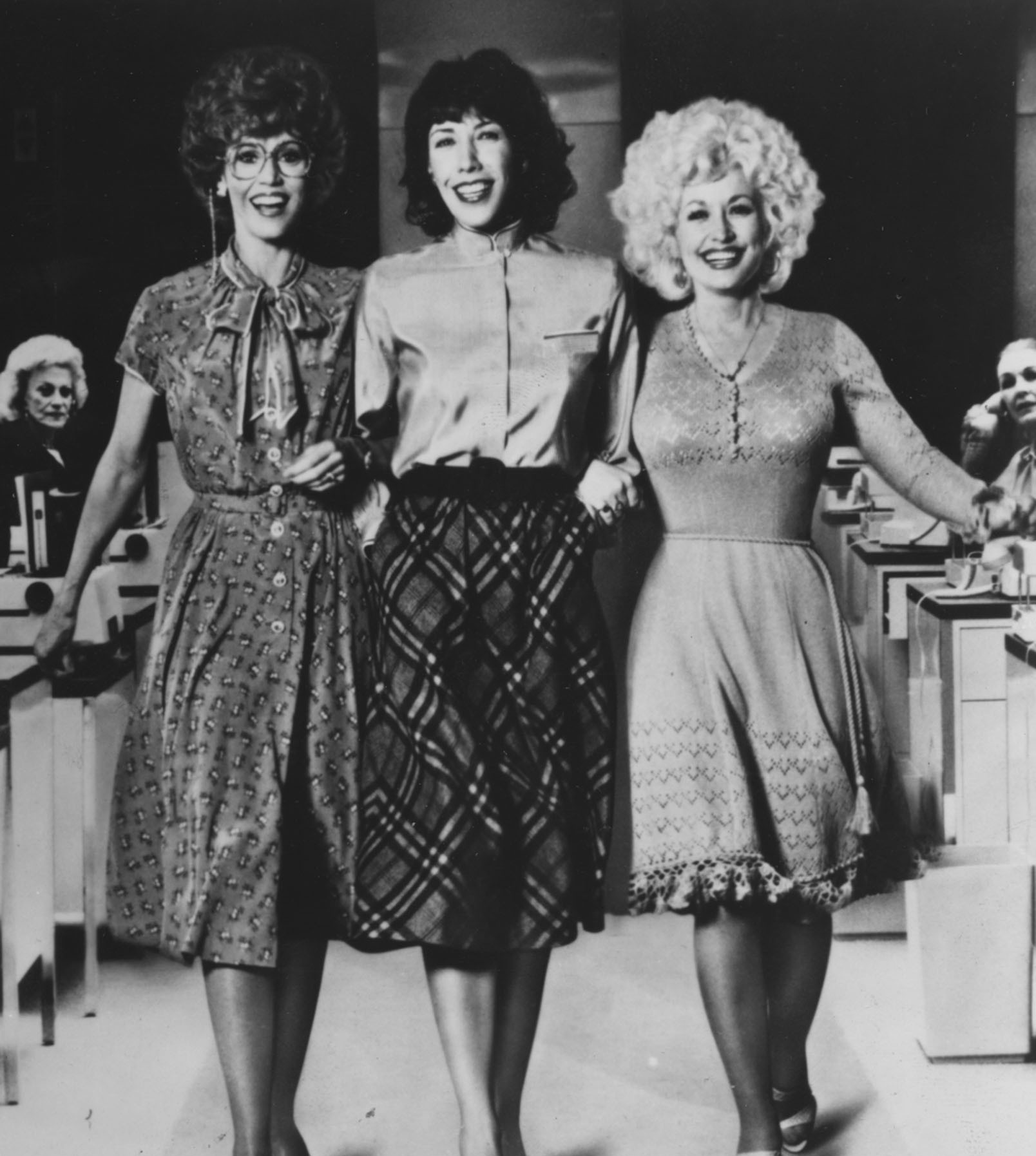 Jane Fonda, Lily Tomlin, and Dolly Parton star in the 1980 movie '9 to 5.'