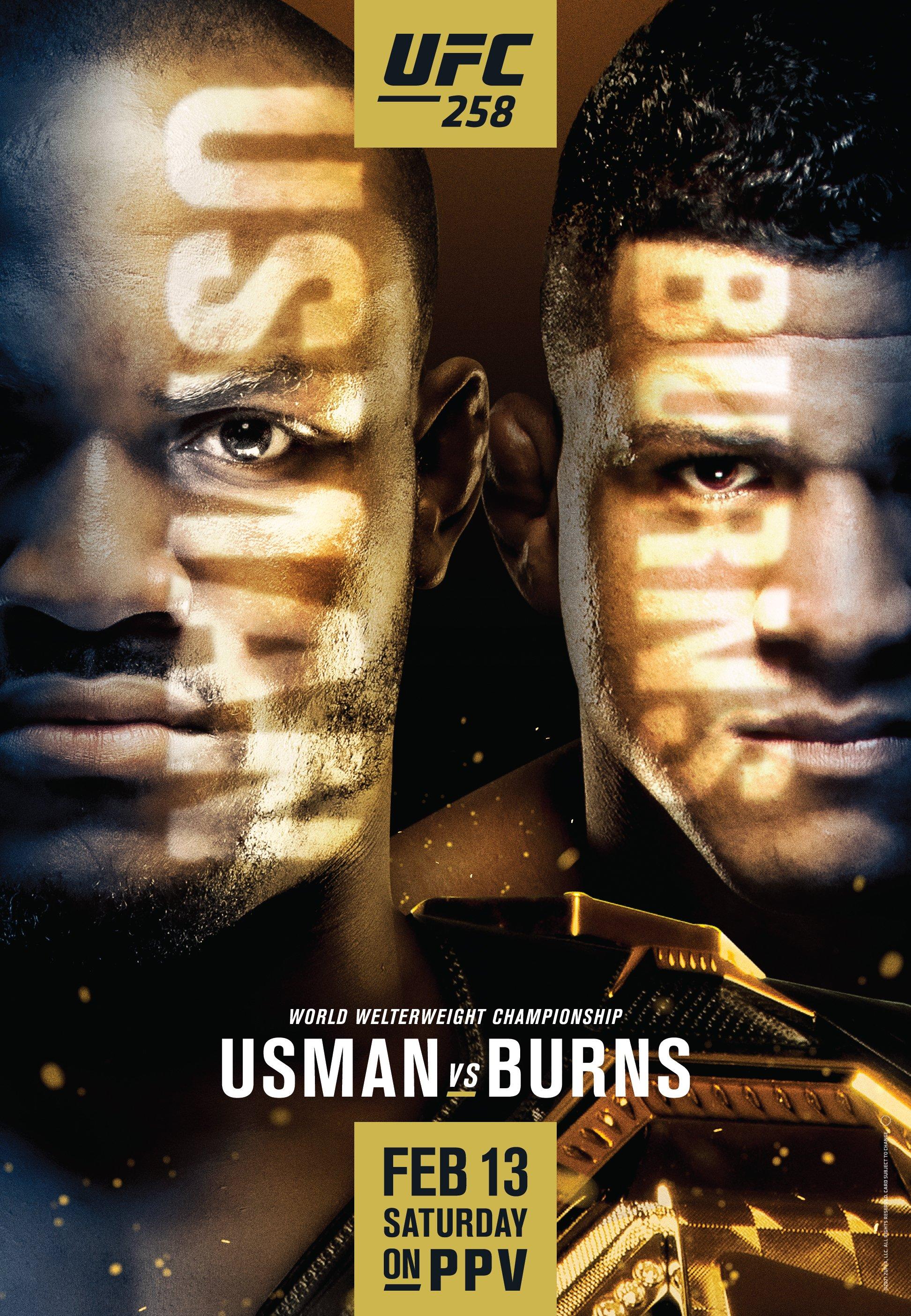Znalezione obrazy dla zapytania: UFC 258