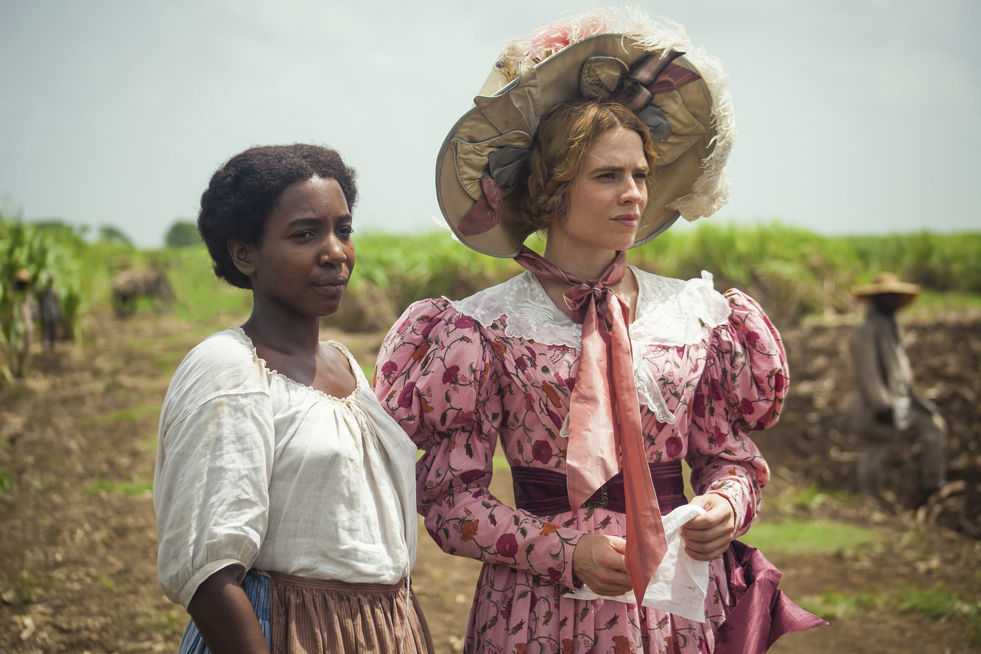 Tamara Lawrance, left, and Hayley Atwell in a scene from the miniseries 'The Long Song.'