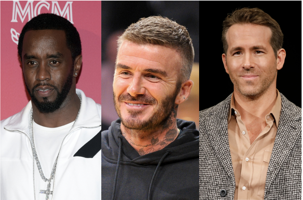 Diddy, David Beckham and Ryan Reynolds