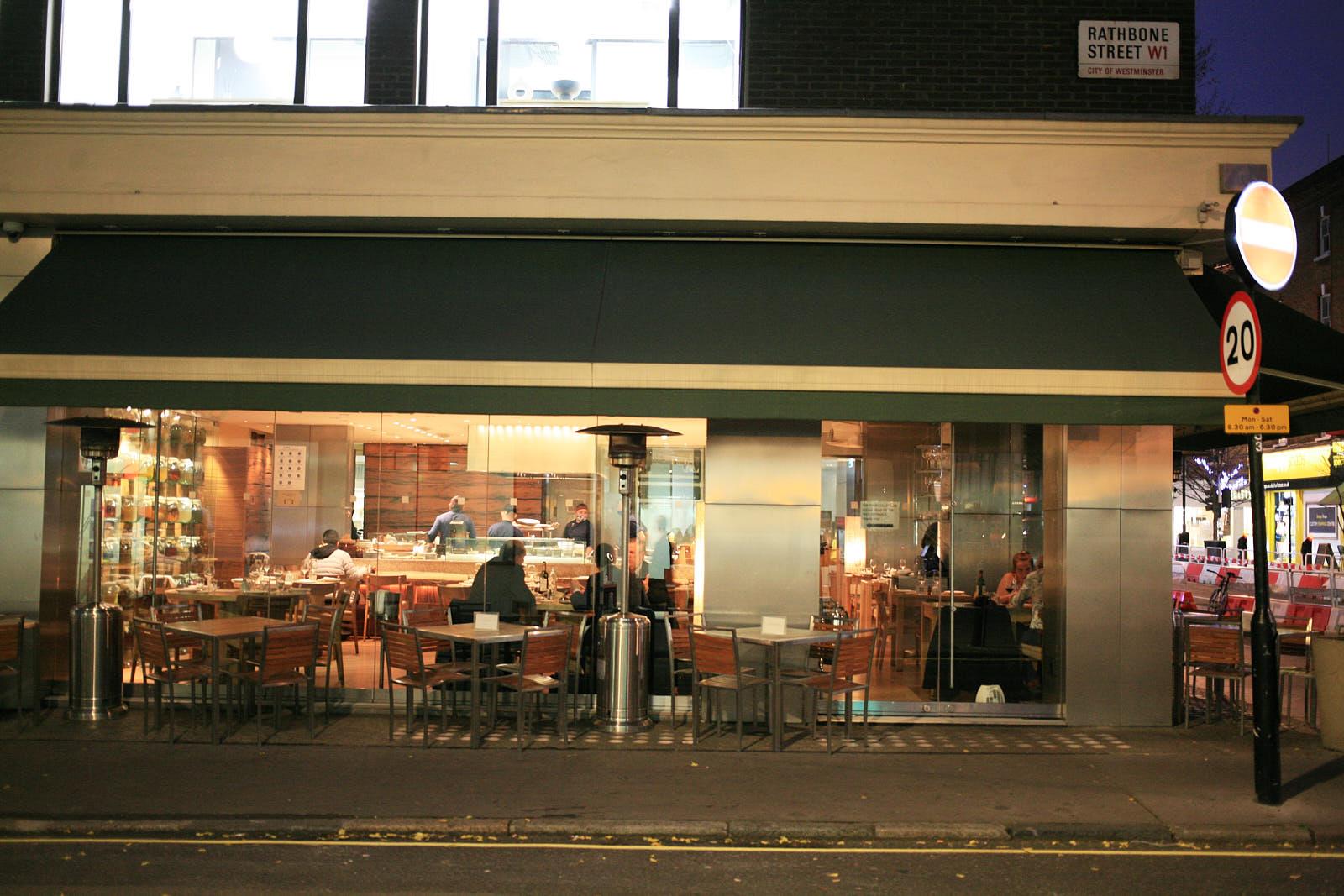 Roka restaurant, on Charlotte Street last November, closed as a result of coronavirus lockdown