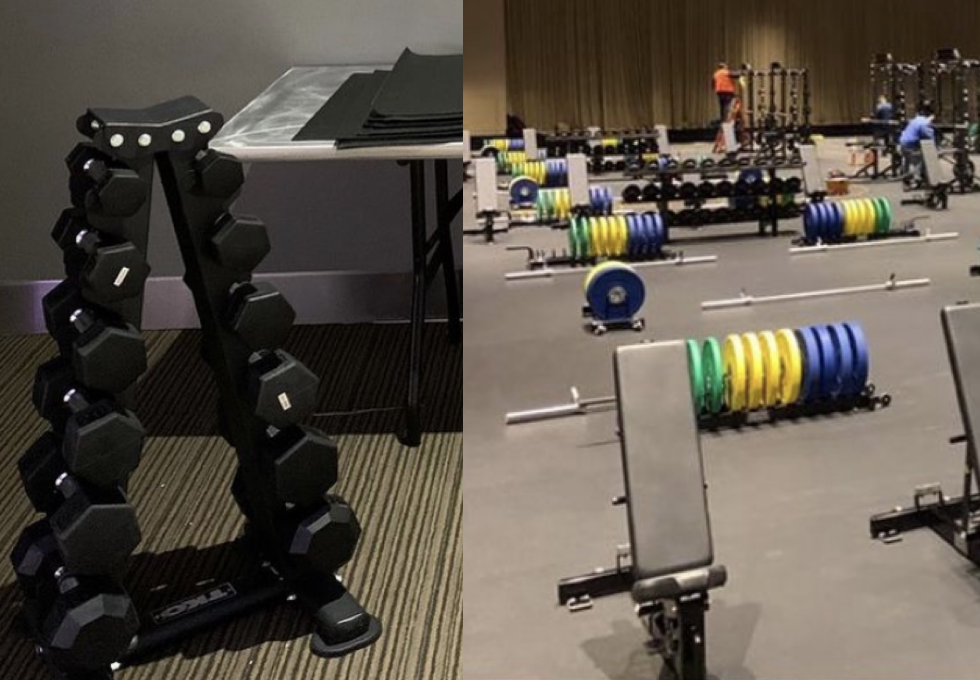 NCAA weight rooms