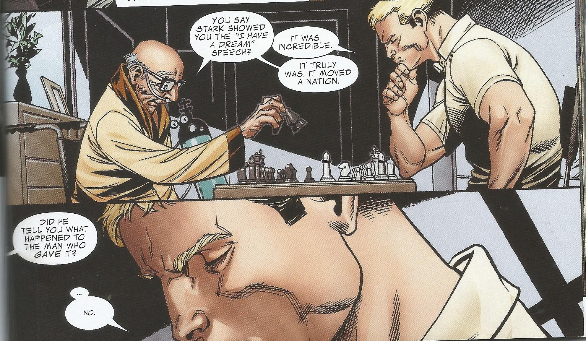 Captain America learns of MLK