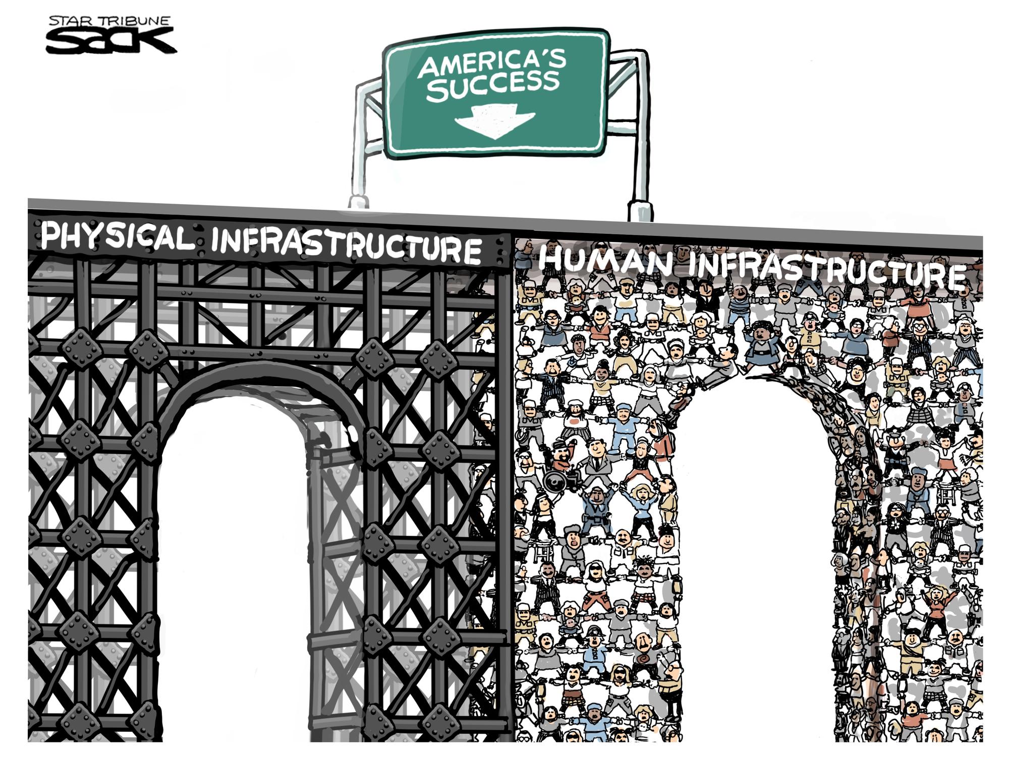 Sack cartoon: America's infrastructure