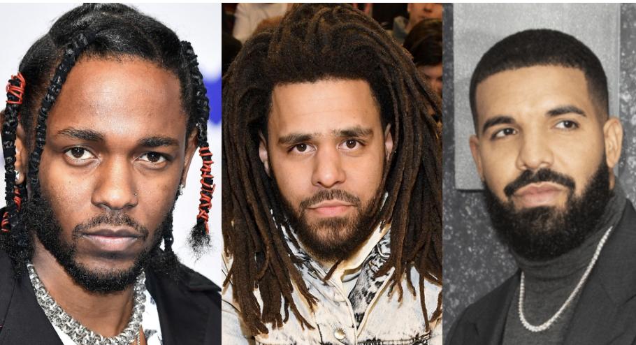 J. Cole, Drake, Kendrick Lamar