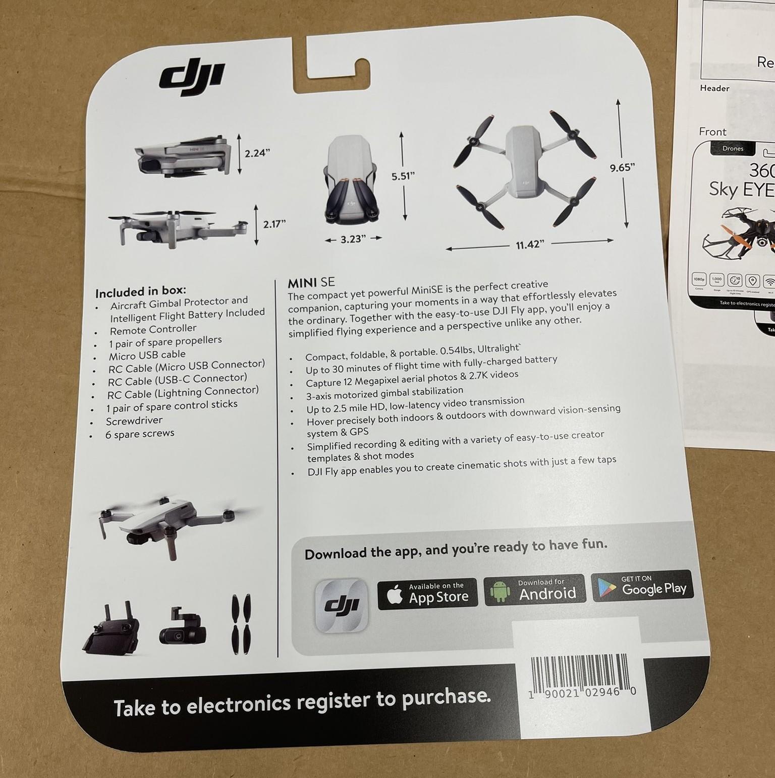 Drone DJI Mini SE barato