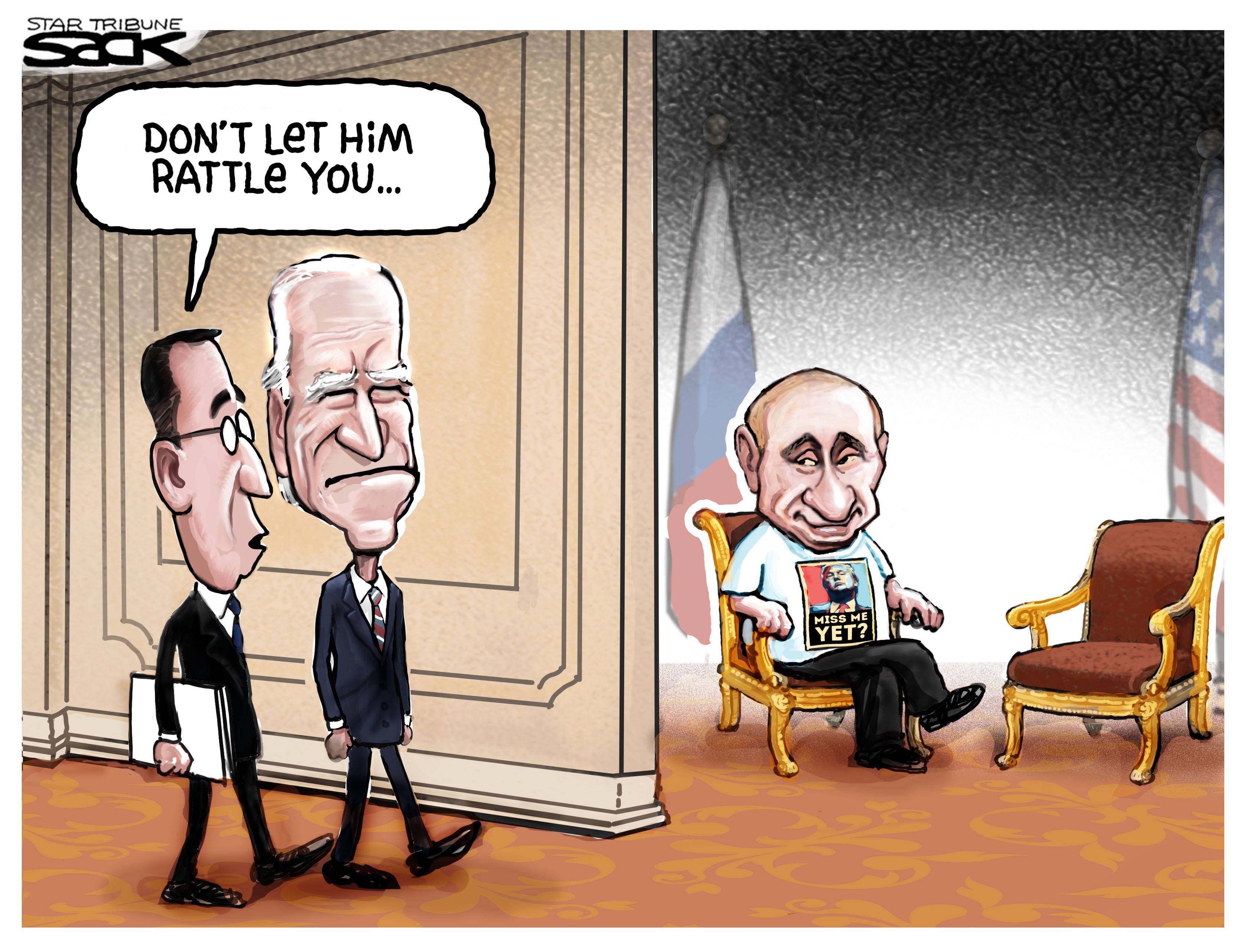 Sack cartoon: Don't let him rattle you