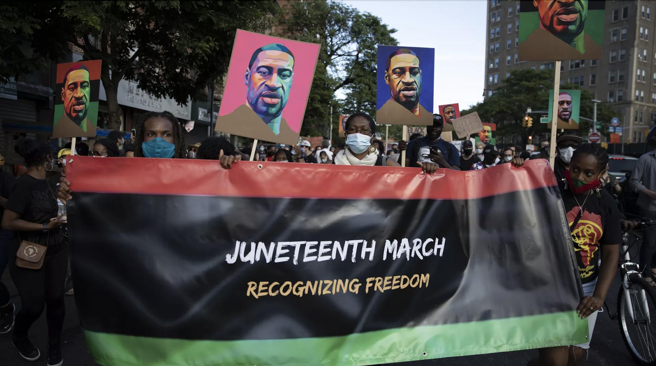 Juneteenth march