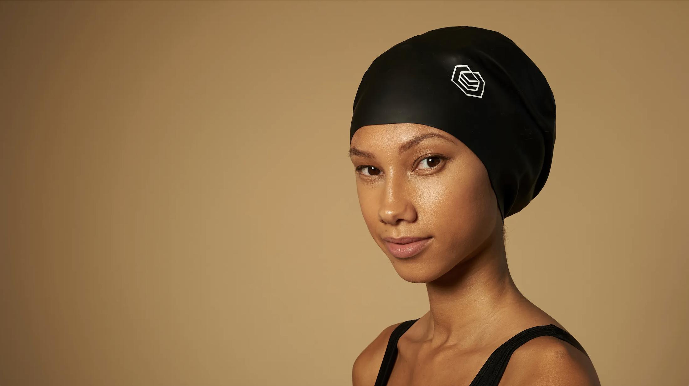 Black swimmer in Soul Cap