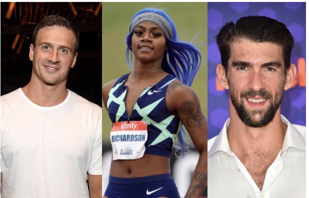 Ryan Lochte, Sha'Carri Richardson, Michael Phelps