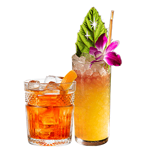 picture of a tropical cocktail