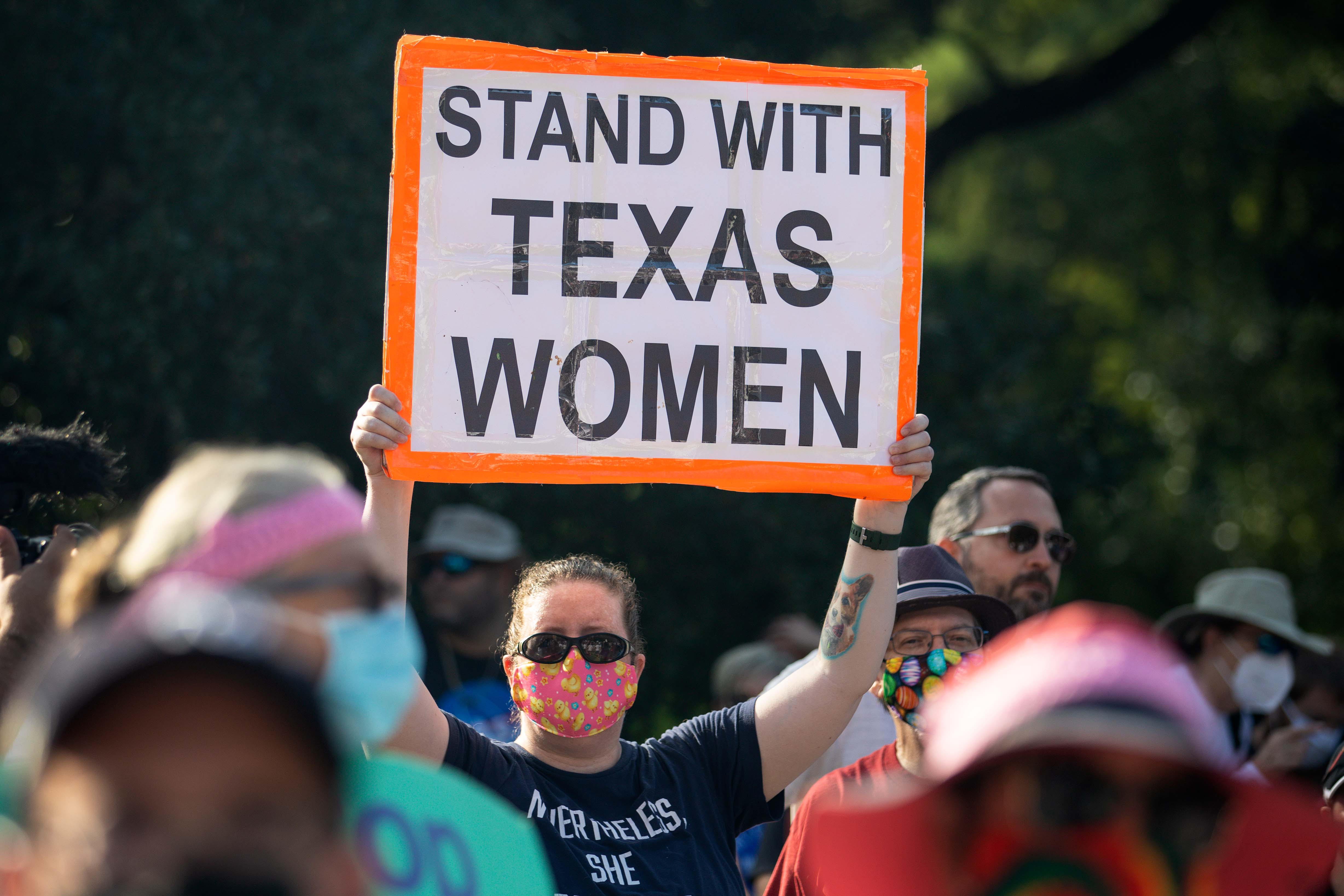 Texas abortion law sign