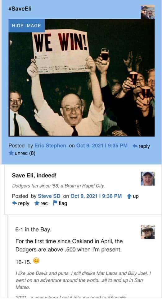 Eric says #SaveEli