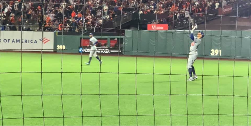 Mookie catching the last out of Game 2