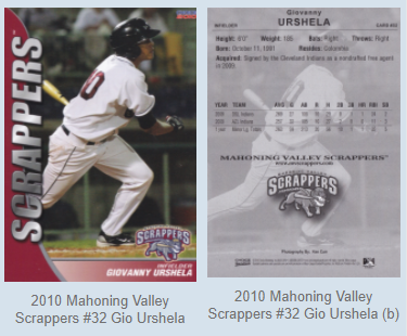 2010 Mahoning Valley Scrappers #32 Gio Urshela