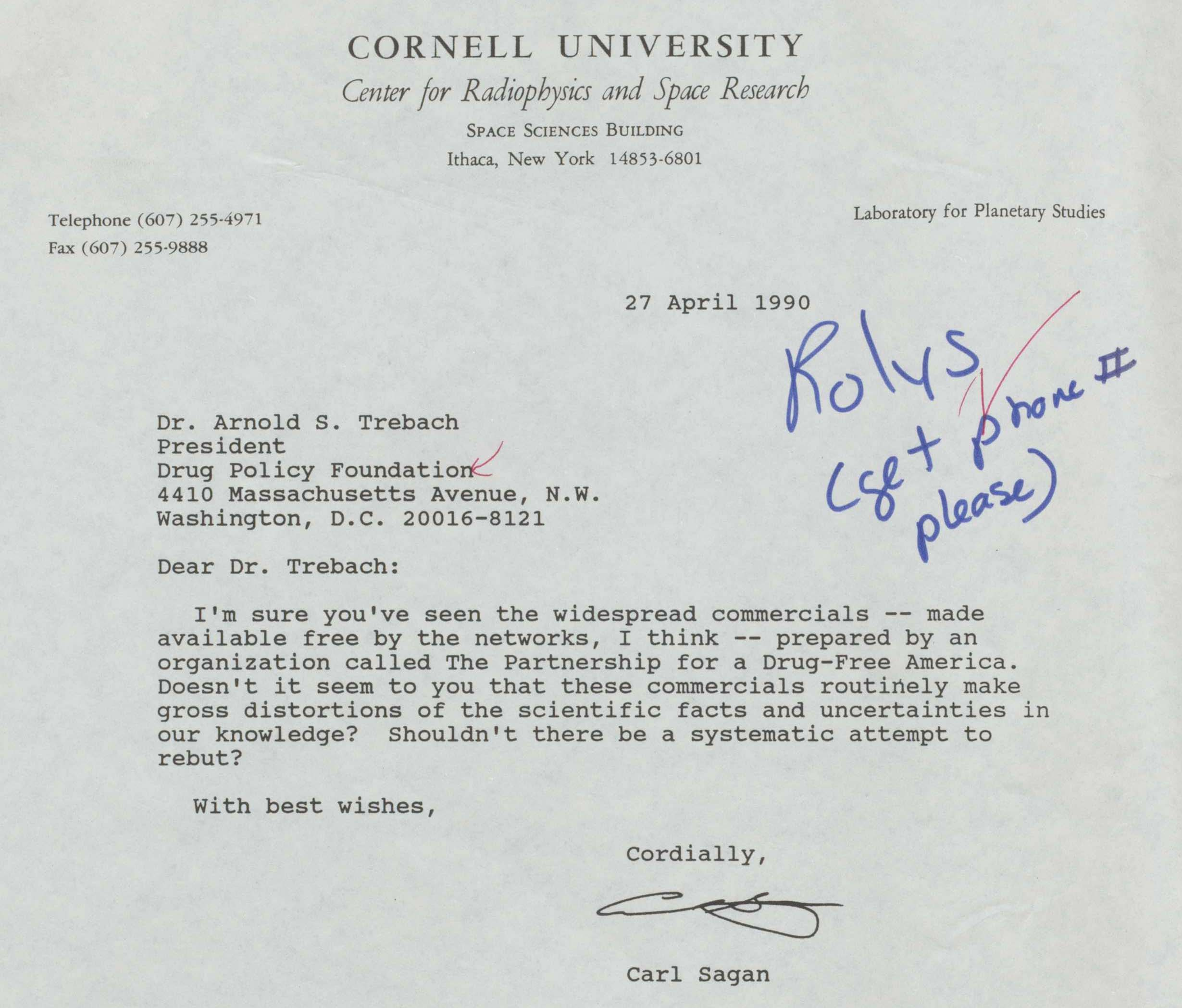 carl sagan s newly revealed letters about the war on drugs vox carl sagan marijuana war on drugs letter 1990