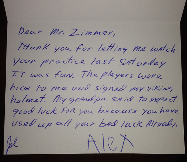 minnesota vikings receive a very special thank you daily