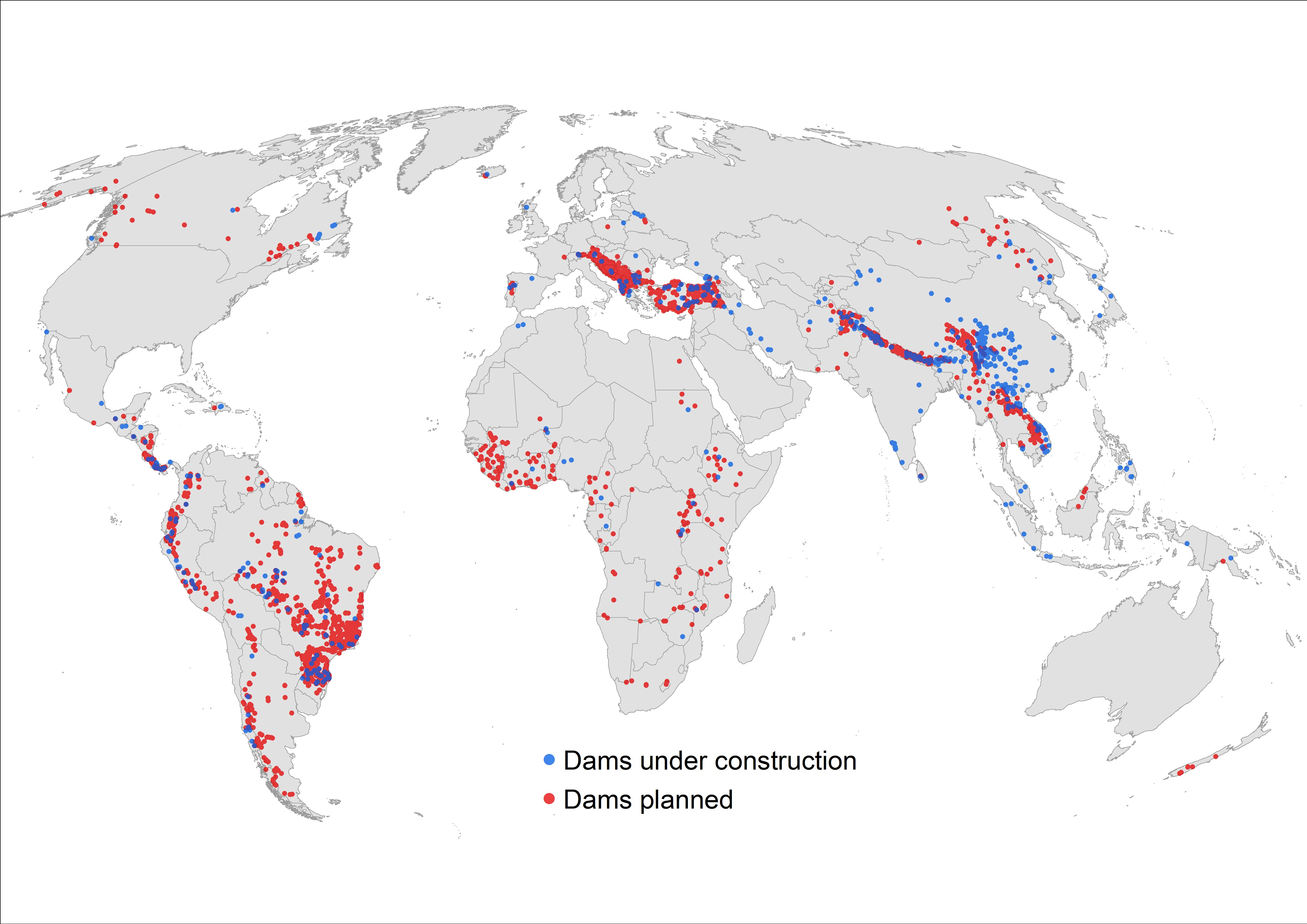 Were Damming Up Every Last Big River On Earth Is That Really A - World big river map