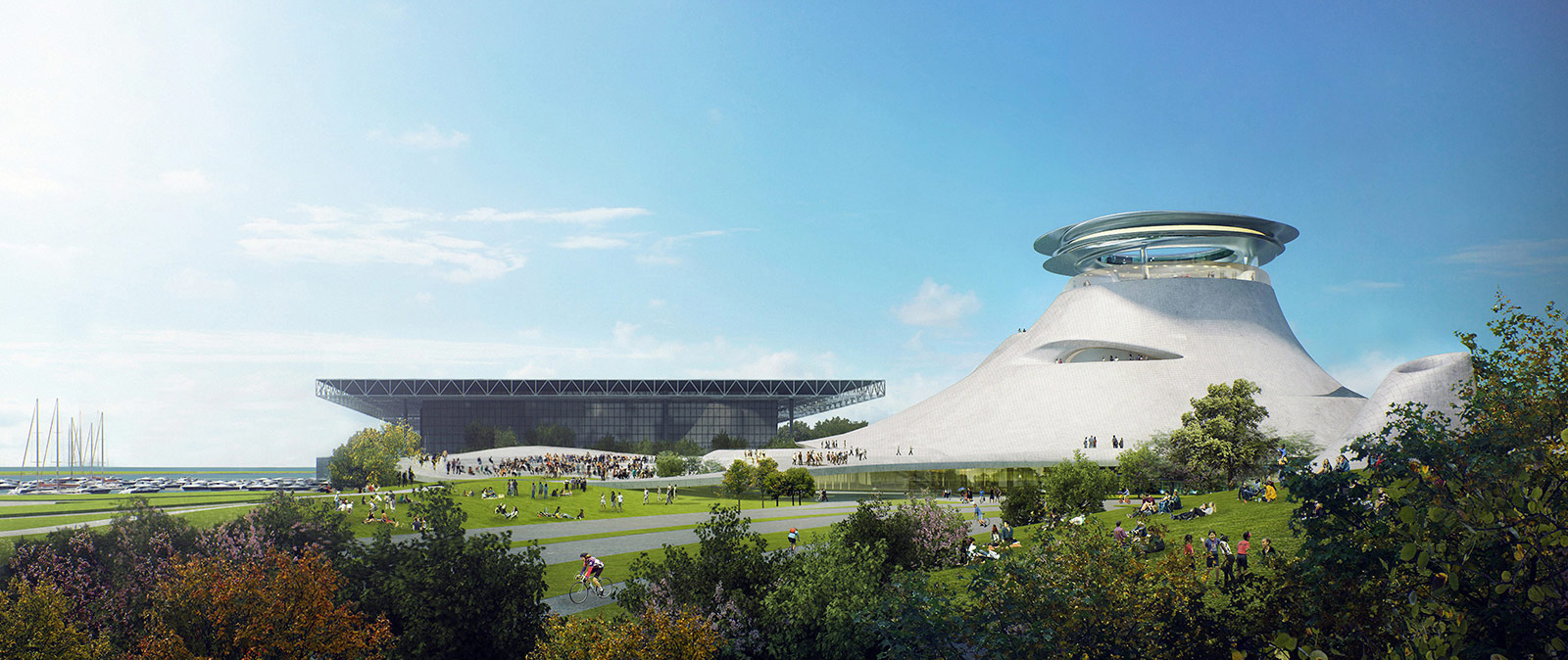 Lucas Museum of Narrative Art concept illustrations by MAD