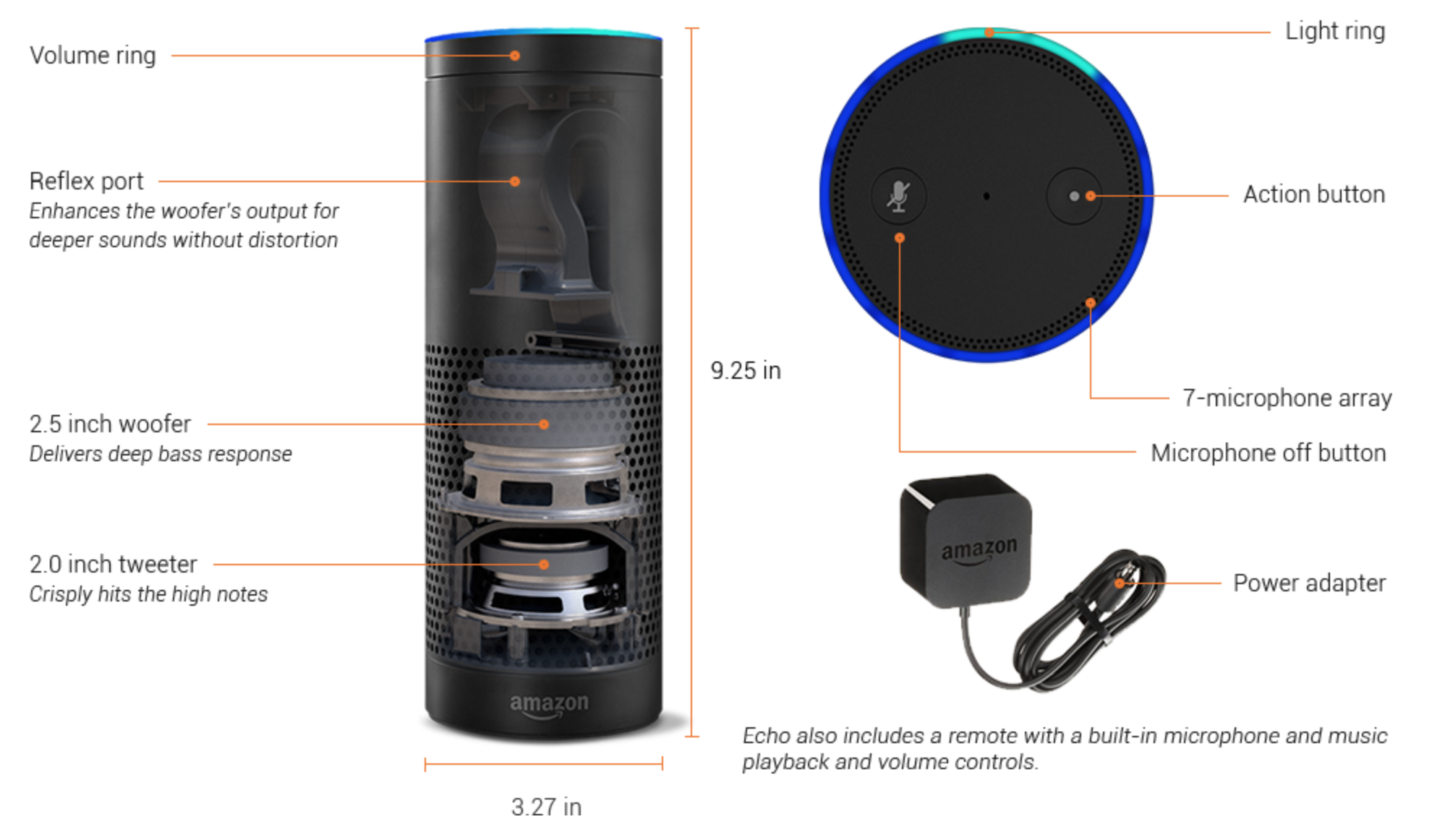 speakers in amazon. amazon echo diagram speakers in