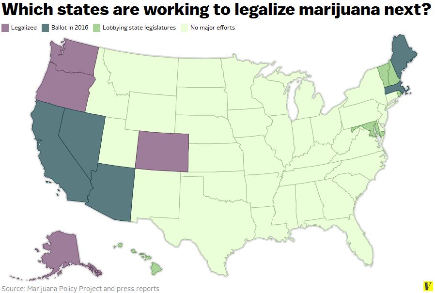 Us Marijuana Map Globalinterco - Us weed legalization map 2017