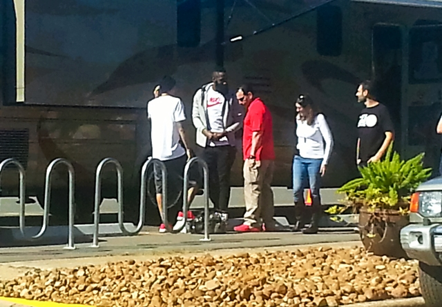 b9a9b3614264 James Harden on set at a Foot Locker commerical in Houston. Photo  Jakeisha  Wilmore
