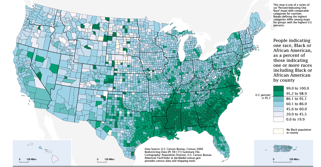 Census Map Black Population