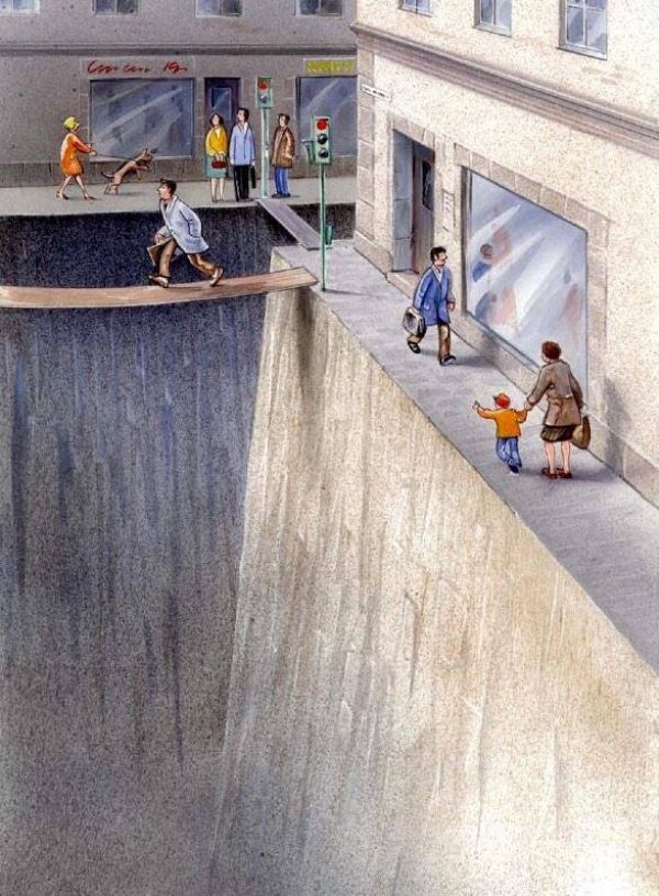 This brilliant illustration shows how much public space we've surrendered to cars