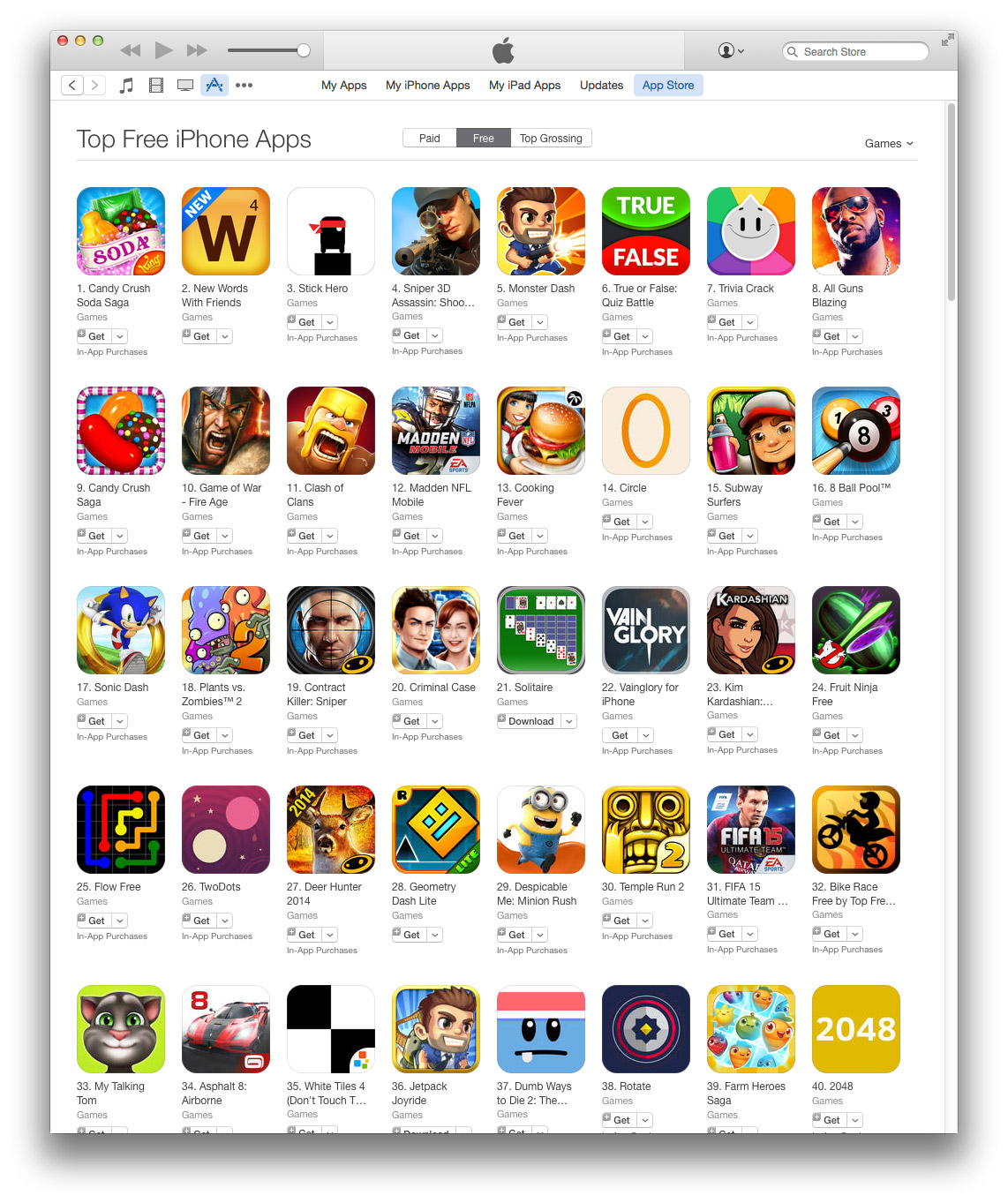 IPad & iPhone Games
