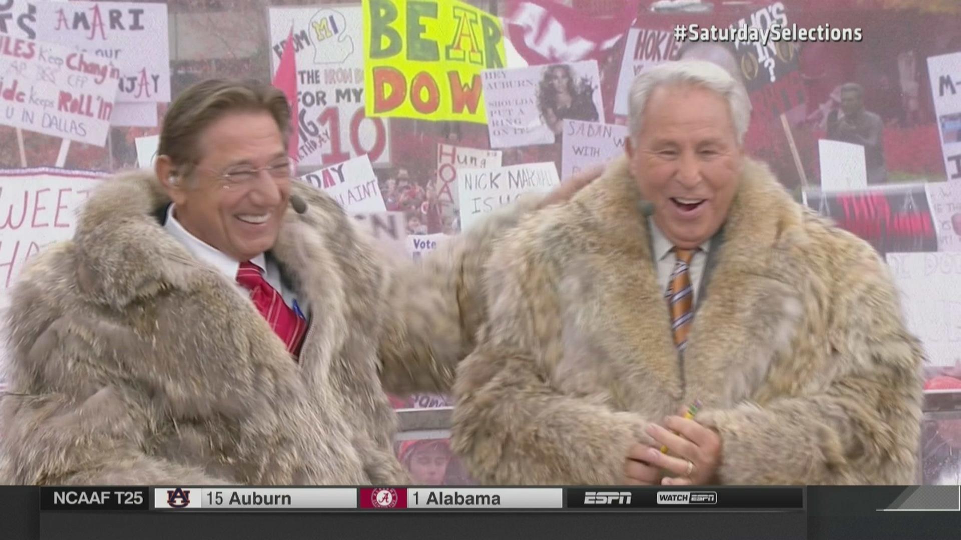 Joe Namath and Lee Corso wear matching fur coats - SBNation.com