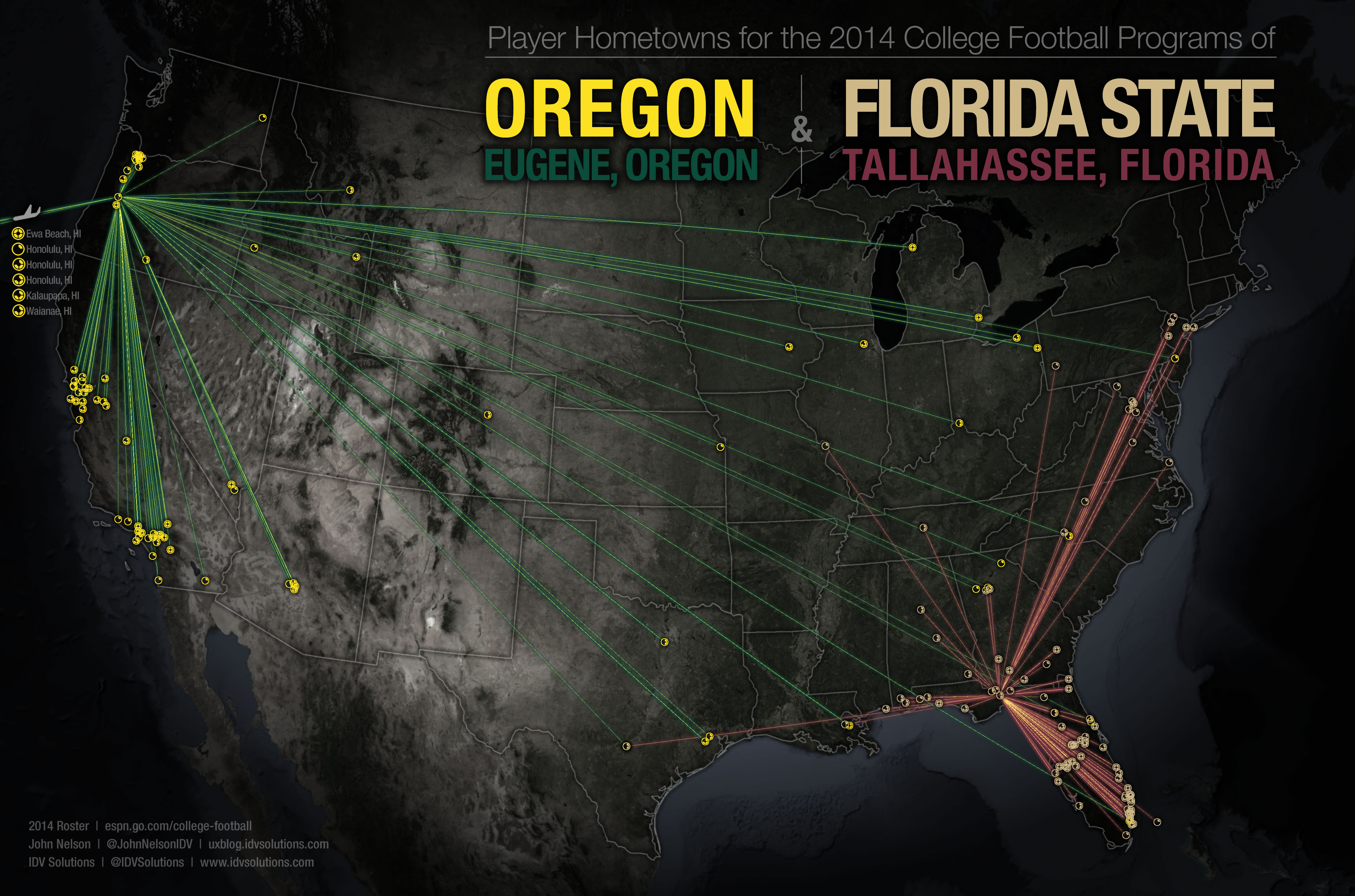 cool maps show where all 4 college football playoff teams get