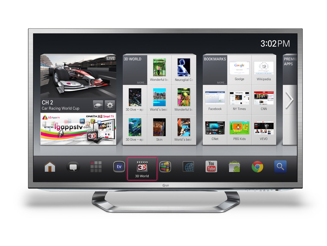 LG Smart TV with Google TV detailed: polarized 3D, QWERTY
