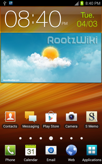 Official AT&T Samsung Galaxy Note Android 4 0 ROM leaks