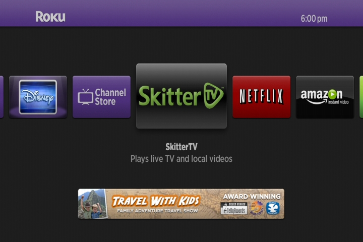 Skitter streams live local TV broadcasts to Roku and WD TV boxes